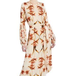 NWT Bishop-Sleeve Tulip Print Dress